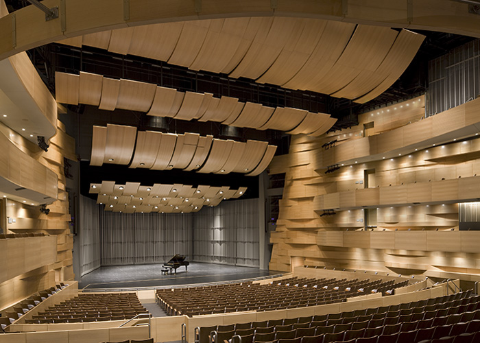CSUN stage and piano